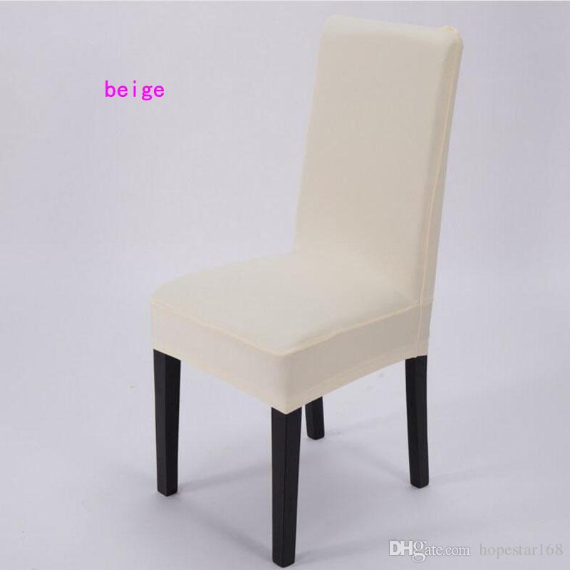 High Stretch Spandex-Stuhl-Abdeckungen für Wedding Banquet Hotel Bar Haus und Party Supplies Hotel-Dekoration Dekor 11 Farbe Weiß erhältlich