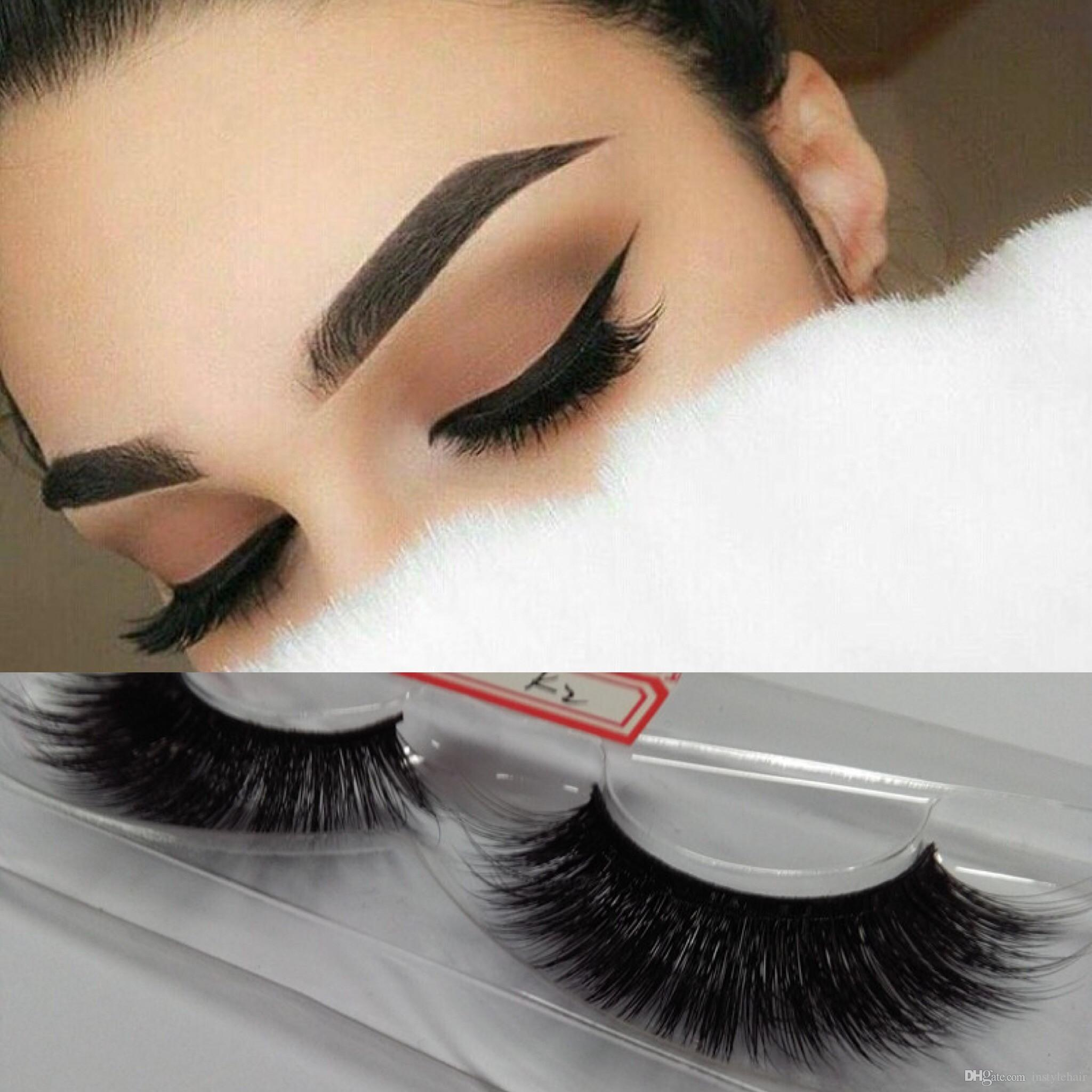 10 Pairs Long Cross Handmade Silk 3D Makeup Fake False Eyelashes Hot Popular Sale 3D Eye Lashes Black