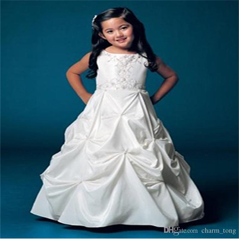 Dernières robes de demoiselle d'honneur A-ligne Princesse Communion Party Pageant Robe pour les petites filles