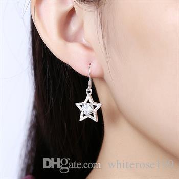 Partihandel - lägsta pris julklapp 925 sterling silver mode örhängen e99
