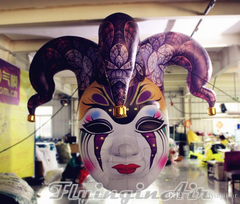 2m Decorative Inflatable Clown Head Inflatable Medusa Queen Mask Replica Balloon for Halloween/Clown Party