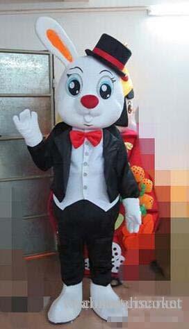 Ventes chaudes de haute qualité visuel top vente belle animal lapin costume peluche unique oreille lapin costume