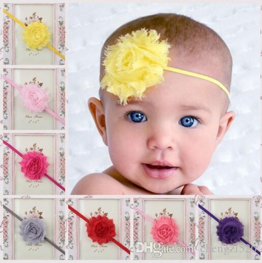 Saç Aksesuarları Çocuk Kız Bebek Baş bandı Bebek Dantel Bow Çiçek Saç Bandı Şapkalar YH444
