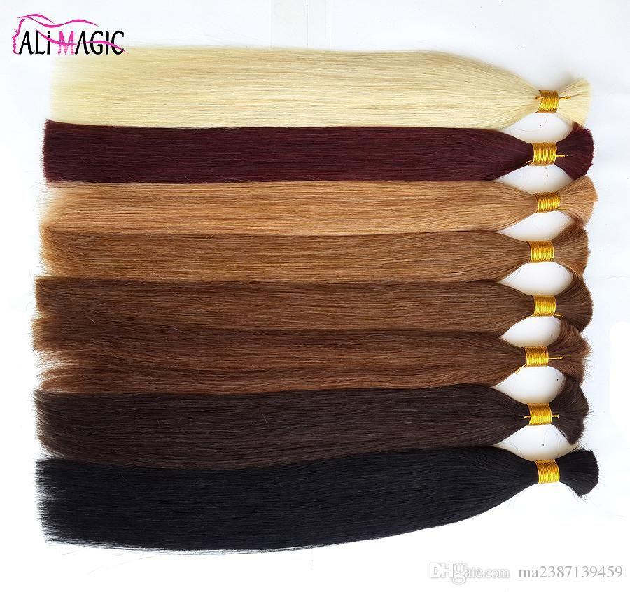 Cheap 2019 New Human Hair For Braiding Bulk Hair Factory Unprocesseds Hair Straight 20 22 24inch 100g/Lot Wholesale Ali Magic Wholesale