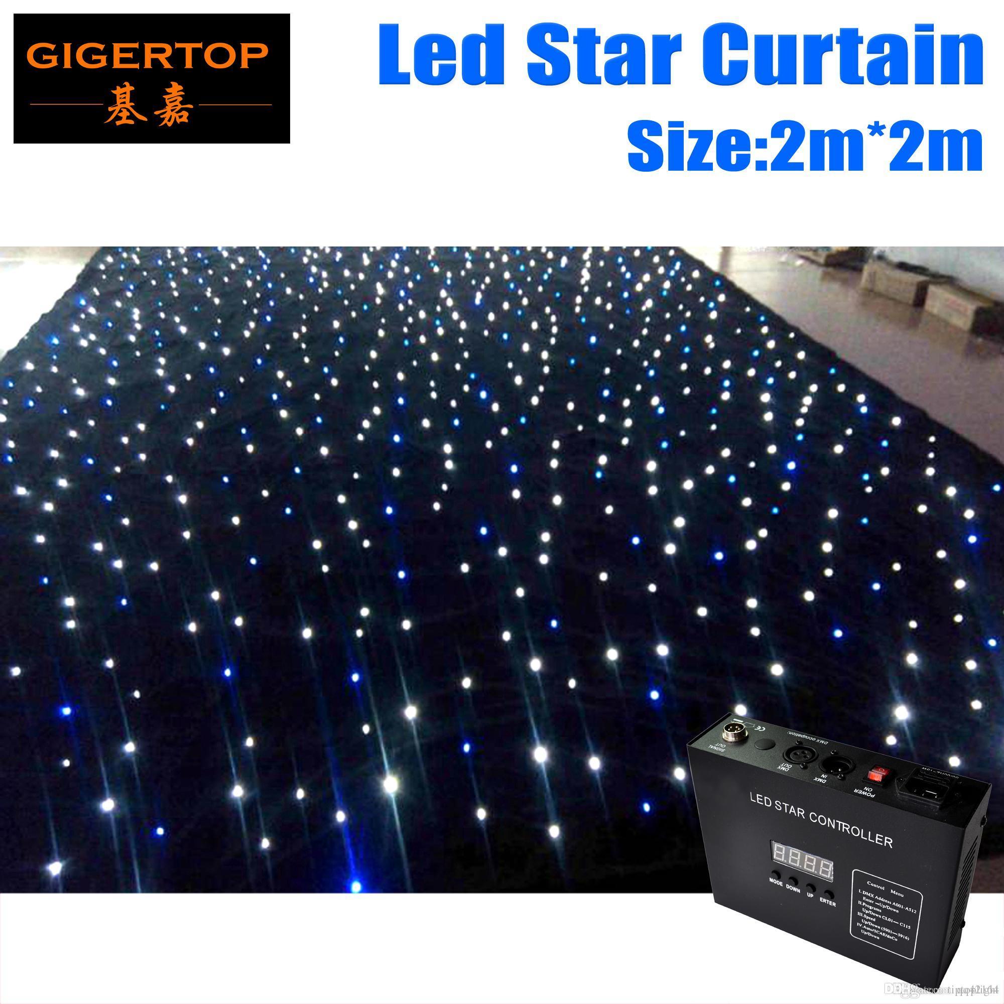 Super Deal anpassen 2M * 2M-Qualitäts-RGBW / RGB-Farben-Vorhang LED-Stern-Tuch mit Controller 90V-240V-Lichtvorhang CERROHS