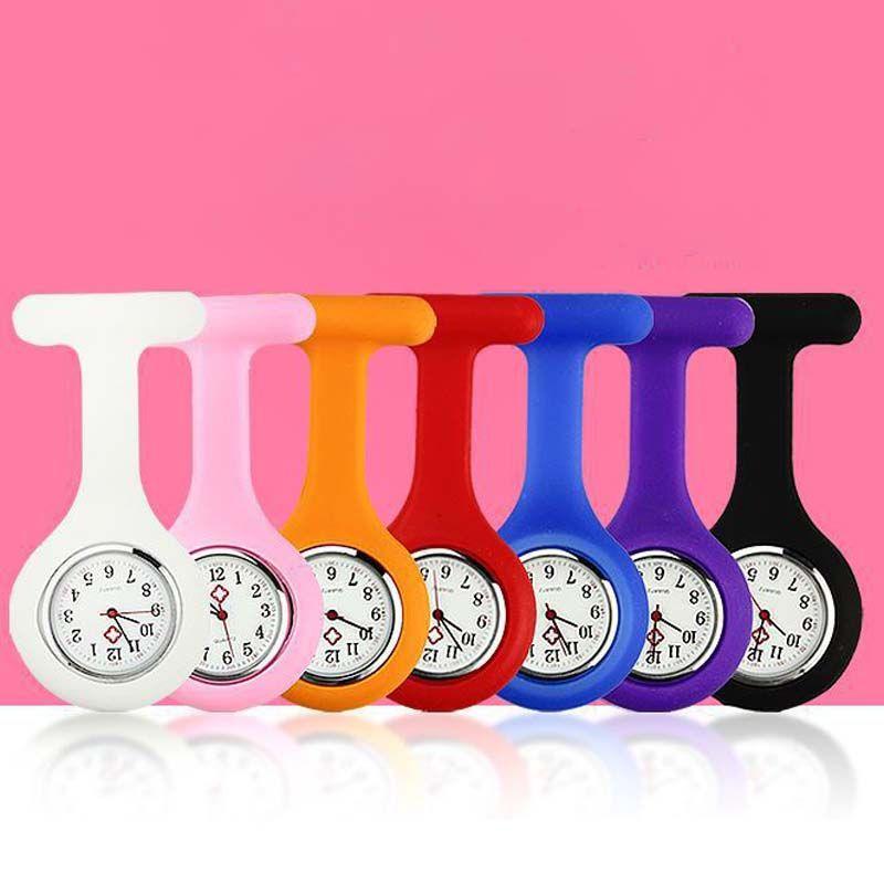 doce cor Clipe Silicone Nurse Doctor Pocket Watch Jelly Assista Nova moda jóias por Mulheres caçoa o presente Drop Shipping
