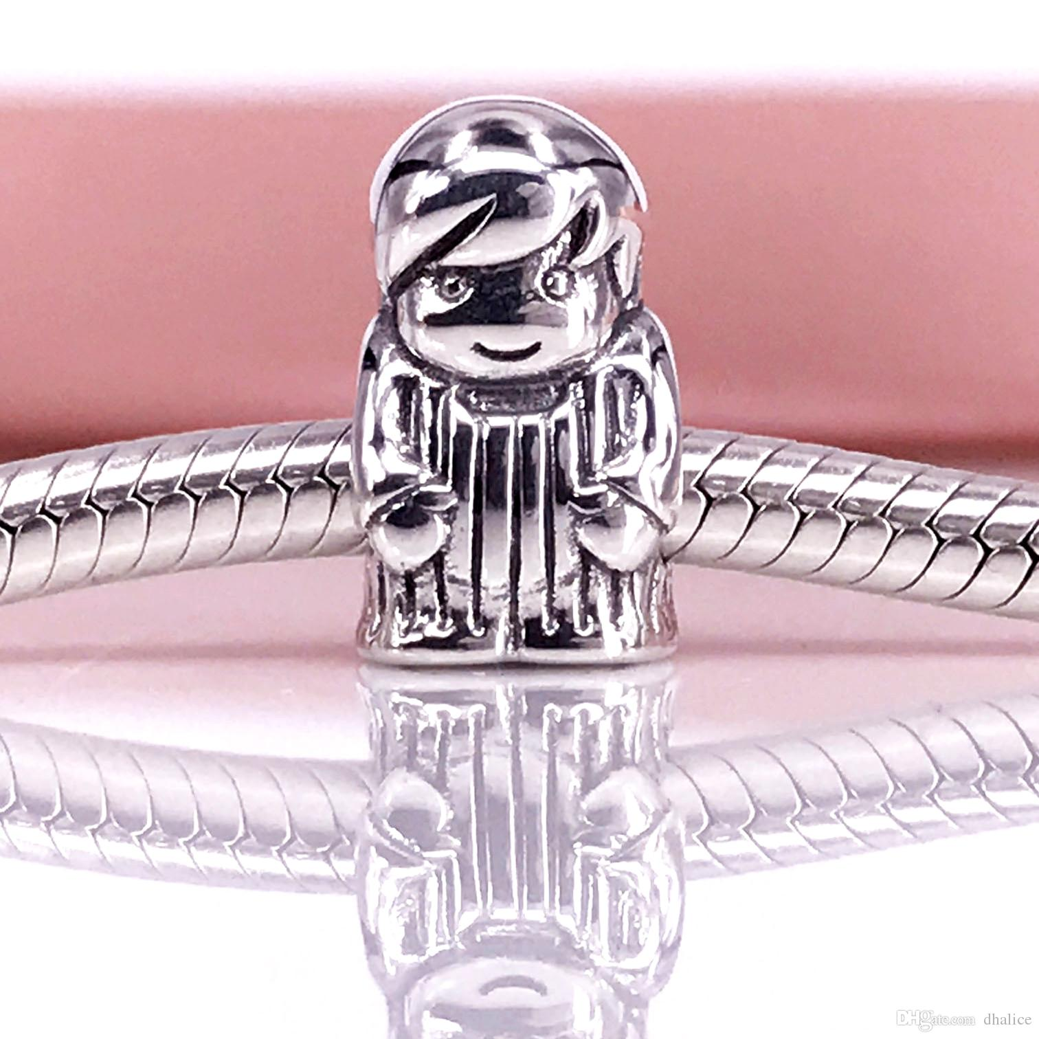 Authentic 925 Sterling Silver Boy silver charm Fit DIY Pandora Bracelet And Necklace 791530