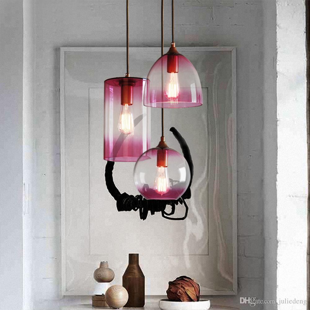 Großhandel Gewinde Design Spiegelglas 1 Licht Pendelleuchte Aquarium ...