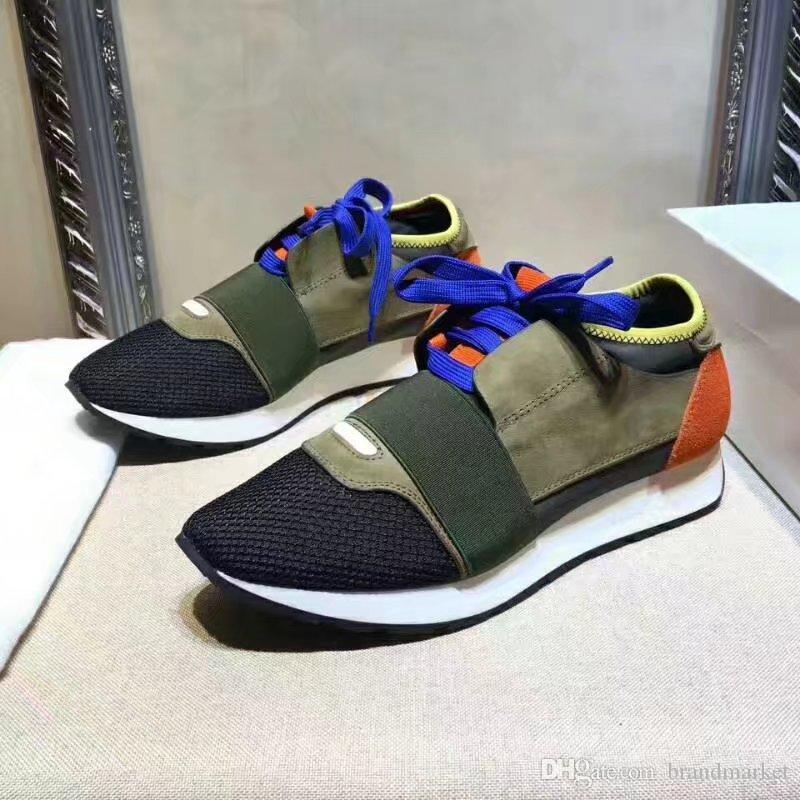 Neue Designer beiläufige Paare Schuh Mann Frau klassischer Modedesigner ursprünglicher Kasten Ineinander greifen Trainer Schuhe Low Cut Mesh-Trainer Doppel Box