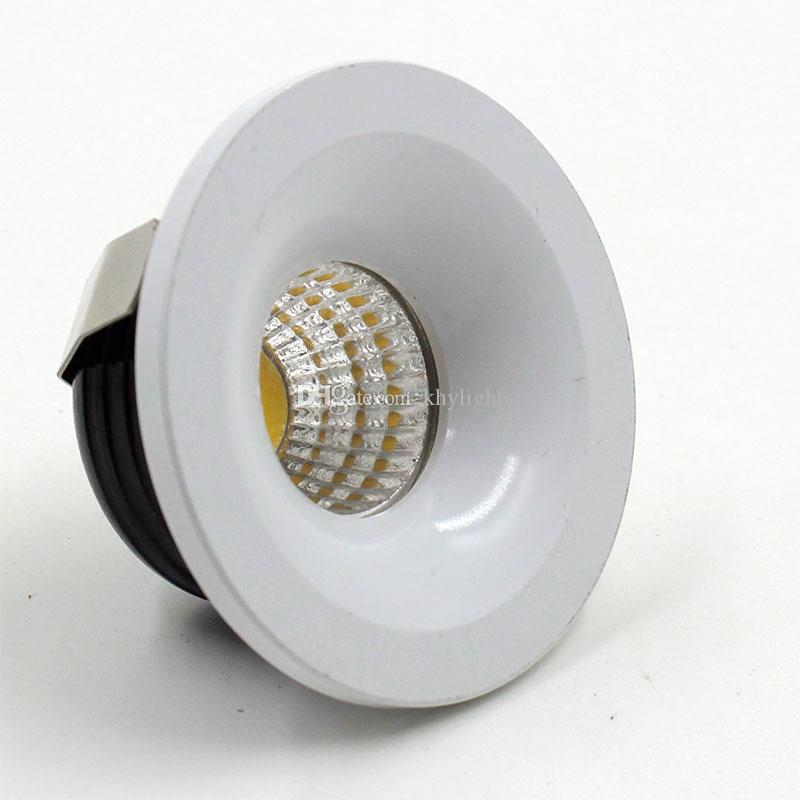 finest selection e96e8 9086e /1lot 3W Round COB Mini Led Spot Light Mini Recessed Downlight Cabinet LED  Lamp With Led Driver 240v Downlights Large Downlights From Khylights, ...
