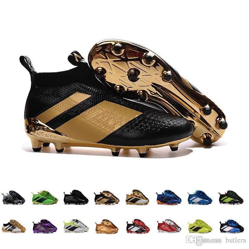 2020 2017 ACE 16+ PureControl FG Cheap Soccer Shoes Men Shoes Online For Sale Stellar Pack Soccer Cleats Top Quality Socks Shoes EUR39 45 From