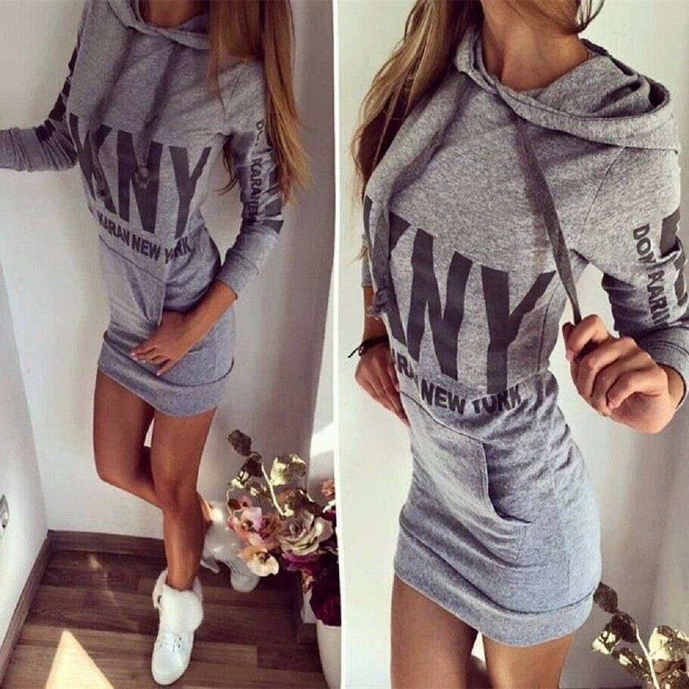 Women-Party-Dress-Letter-Print-Hooded-Front-Pocket-Long-Sleeve-Slim-College-Style-Dress-Spring-Autumn