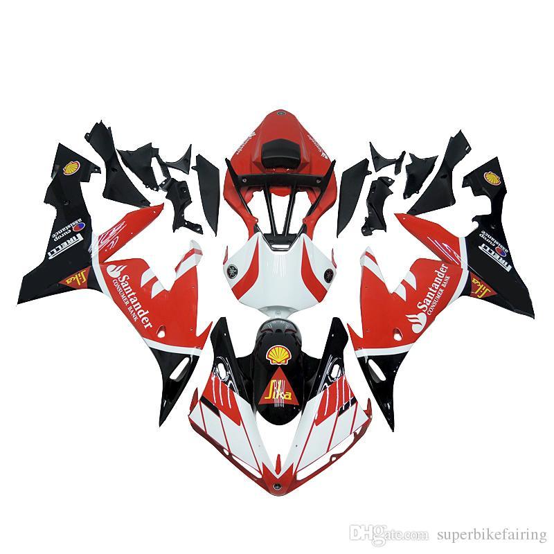 3無料の贈り物完全なフェアリングヤマハYZF 1000 YZF R12004 2005 2006注射プラスチックオートバイ全フェアリングキット赤黒クールO6