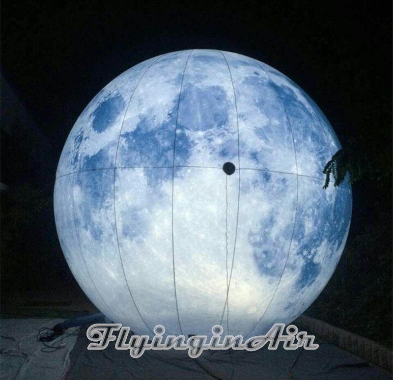 훈장을위한 팽창 식 풍선 팽창 식 달 인쇄 행성을 점화하는 2m 3m 당 풍선