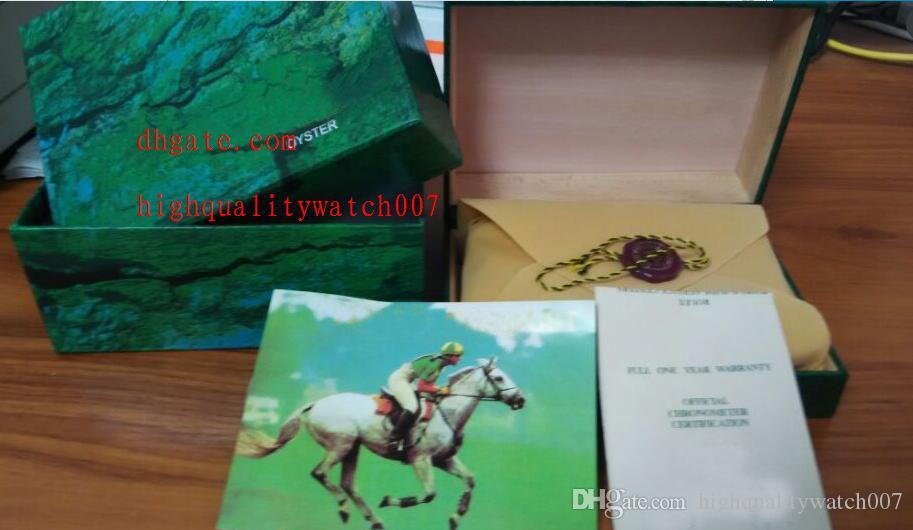 2019 Factory Supplier Green Original Box Papers Gift Watches Boxes Leather bag Card For 116610 116660 116710 116613 116500 116520