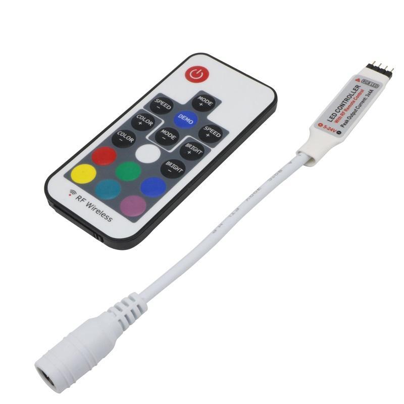Edison2011 50шт постоянного тока RGB мини светодиодный контроллер 17 ключи РФ беспроводной общий анод 3 канала 6А для управления светодиодной ленты SMD 5050 освещение