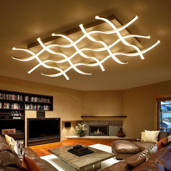 Hochwertig Rechteck Acryl Moderne LED Deckenleuchten Für Wohnzimmer Schlafzimmer  Lamparas De Techo Colgante Quadrat Führte Deckenleuchte