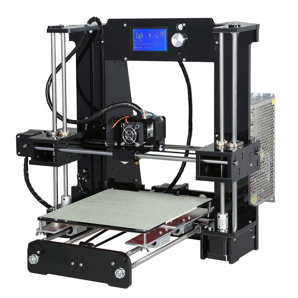 Freeshipping سهلة تجميع anet A6A8 3d طابعة كبيرة الحجم عالية الدقة reprap prusa i3 diy 3d آلة الطباعة + مرتع + الشعيرة + بطاقة sd + lc