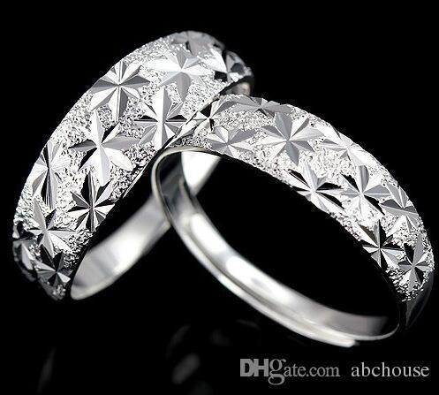 Art und Weise 925 Sterlingsilber, das kupferne endlose Liebes-Hochzeits-Edelstein-offene Ringe für Paare 30pcs überzieht Freies Verschiffen