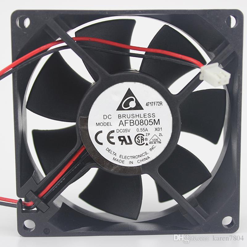 Originale per Delta 8 cm AFB0805H AFB0805L AFB0805M 8025 5 V ventola di raffreddamento 80 * 80 * 25 MM
