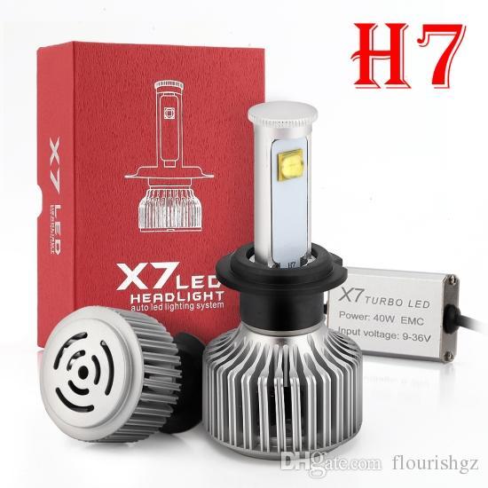 1 Satz H7 X7 Cre 80W 7200lm LED-Scheinwerfer-Superheller-Umwandlungssatz XML2 4SMD-LED-Chips, die Nebelscheinwerfer-Glühlampe treiben, ersetzen HID-Xenon-Halogen