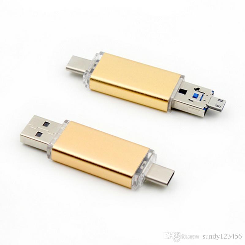 نوع-C MICRO USB OTG USB 3.0 Flash Drive 16gb 32gb 64 Pendrive Smart Phone Pen Drive Memory U flash drive usb stick