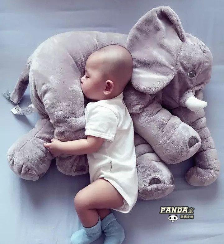 Elefant Kissen Plüschtiere  Kissen Nickerchen Kissen Lendenkissen Weich Bequem