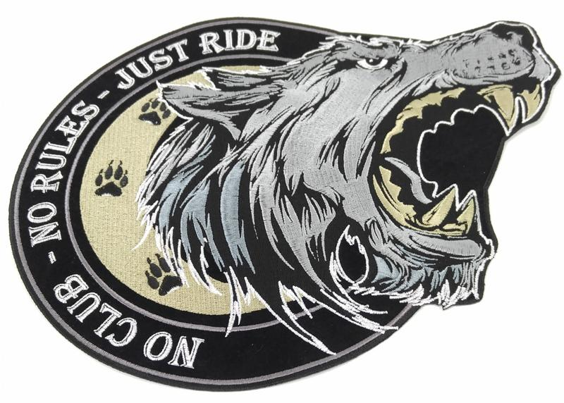 No Club Embroidered Motorcycle//Biker Patch No Rules Just Ride