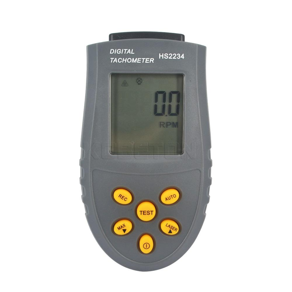 Wholesale-Digital Laser Tachometer LCD RPM Test Small Engine Motor Speed Gauge Non-contact KBT001309