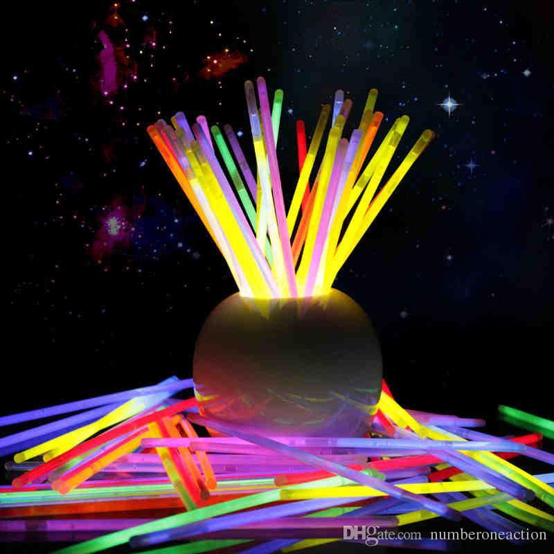 Праздничный Рождественский Вечер Концерт Флуоресцентные Браслеты Светящиеся Палочки Хэллоуин День Рождения Свадьба Украшения Дома Ночь Свет Палочки