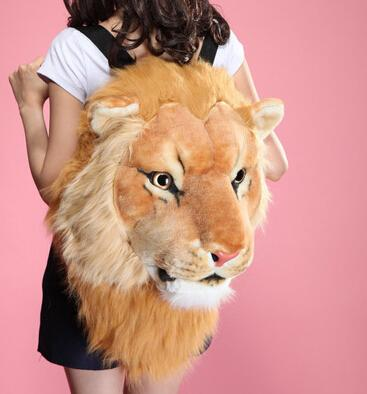 All'ingrosso- Fashion Tiger Head Bag Zaino Lion Zaino bianco Zaino Tiger Head Bags