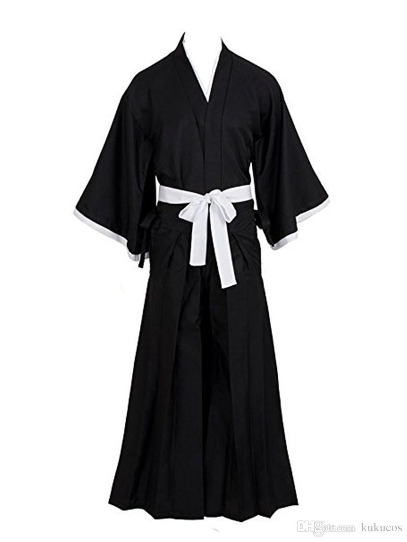 cefbecfde Kukucos Anime Japanese Bleach Ichigo Kurosaki Shinigami Death Kimono  Cosplay Costume Dress Cosplay Black Anime Cosplay From Kukucos, $54.82|  DHgate.Com