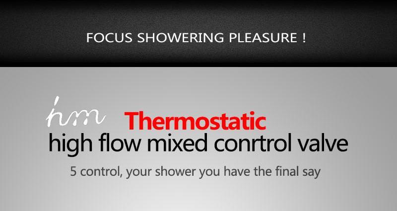 Bathroom Shower Valve Large Water Flow Solid Shower Accessories 5 ways Chrome Brass Panel Diverter Faucet Tap Shower Controller (18)