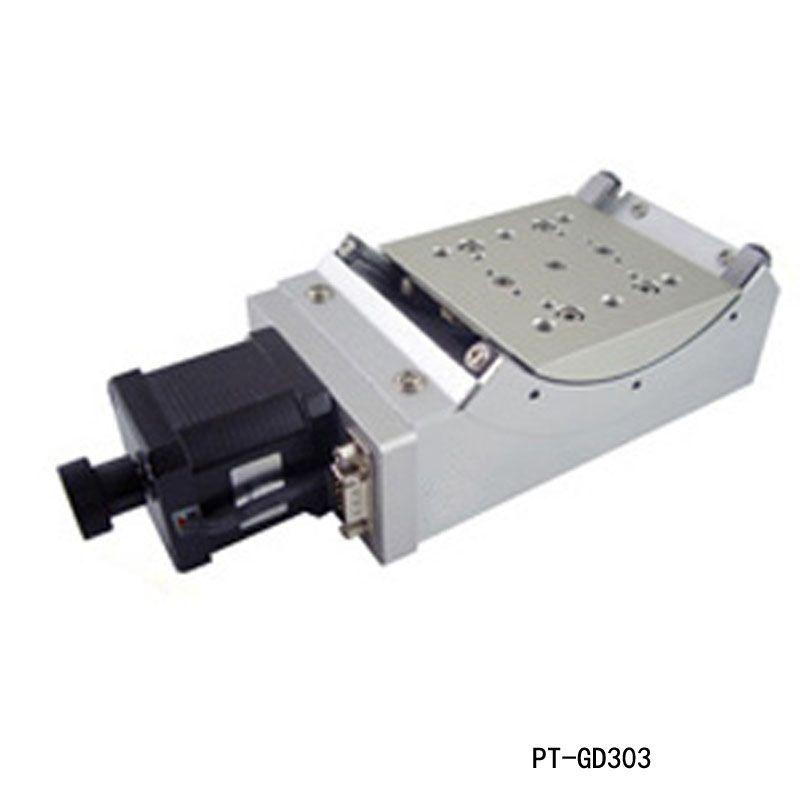 Motorisé goniomètre Stade électrique goniomètre Plate-forme Plage de rotation: +/- 45 degrés PT-GD303 angle de rotation de l'arc goniomètre battante plate-forme