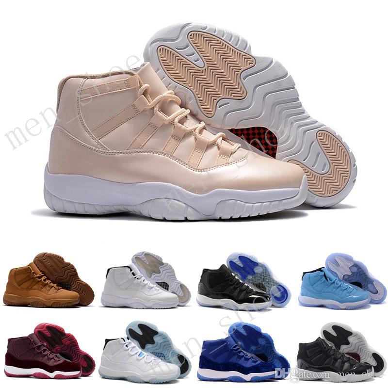 Melhor 2017 11 Criado Concord Space Legenda Gama Blue Xi Homens Sapatos de Basquete Sapatilhas 11 Sapatos Esportivos ao Ar Livre EUR 36-47 5.5-13
