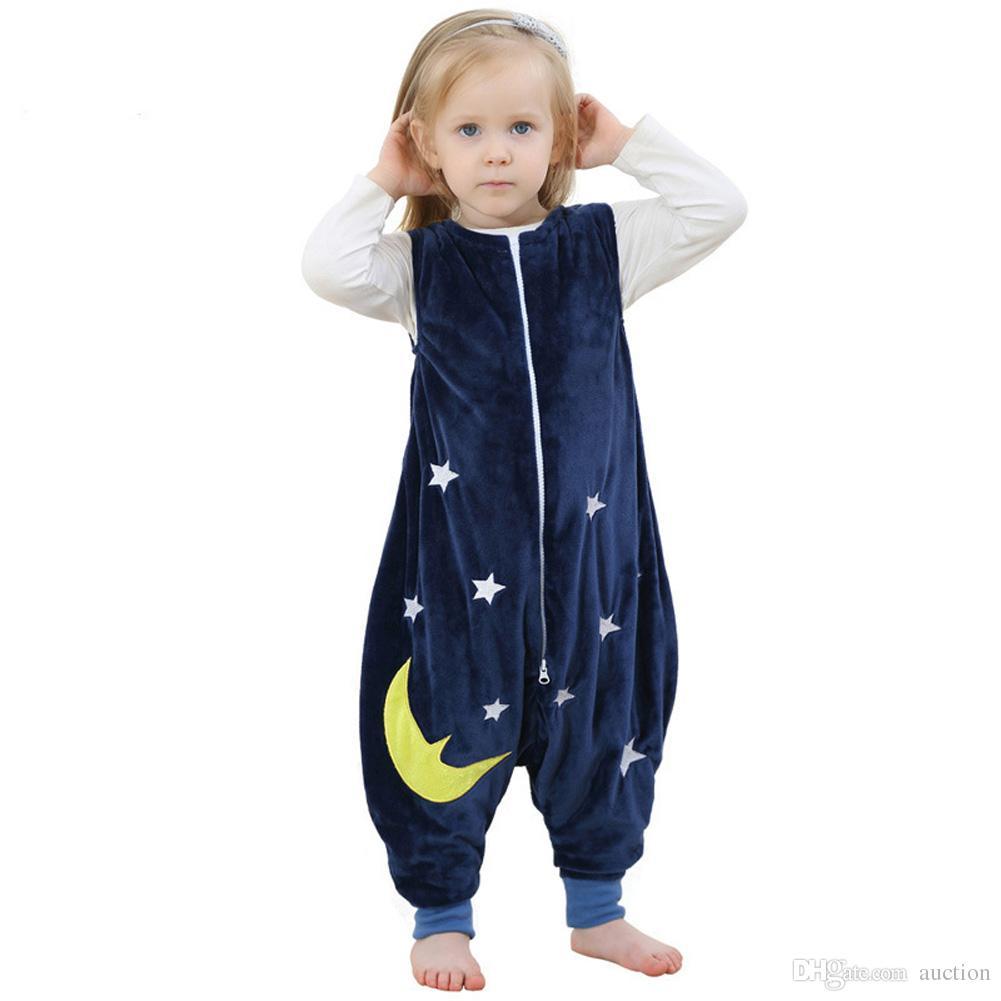 super popular beeb9 dcd75 Wholesale Unisex Baby Toddler Kids Boy Girl Wearable SLEEPING BAGS WITH  FEET Sleeveless Sleeping Bags Blanket Sleepsack Child Christmas Pajamas  Kids ...