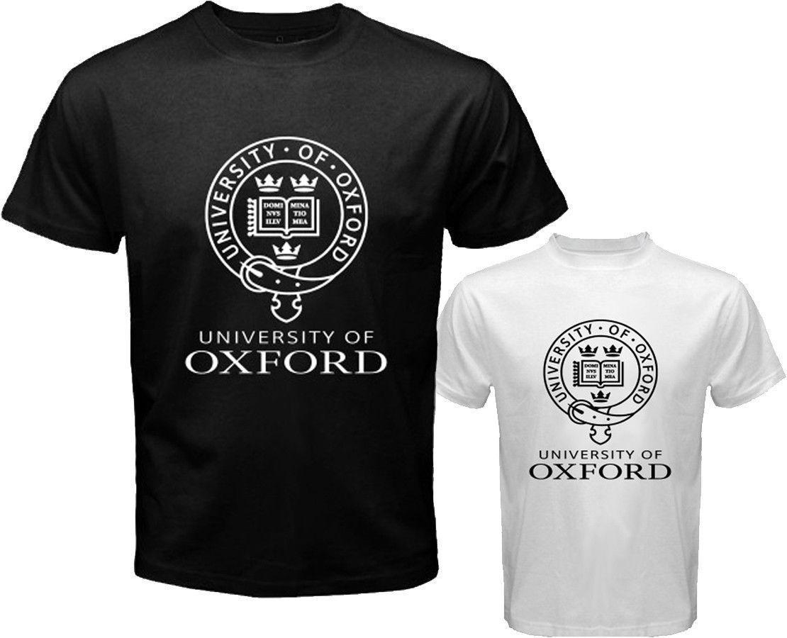 2017 Summer T Shirt New University of Oxford Logo Symbol Men's White Black T-Shirt Size S to 3XL