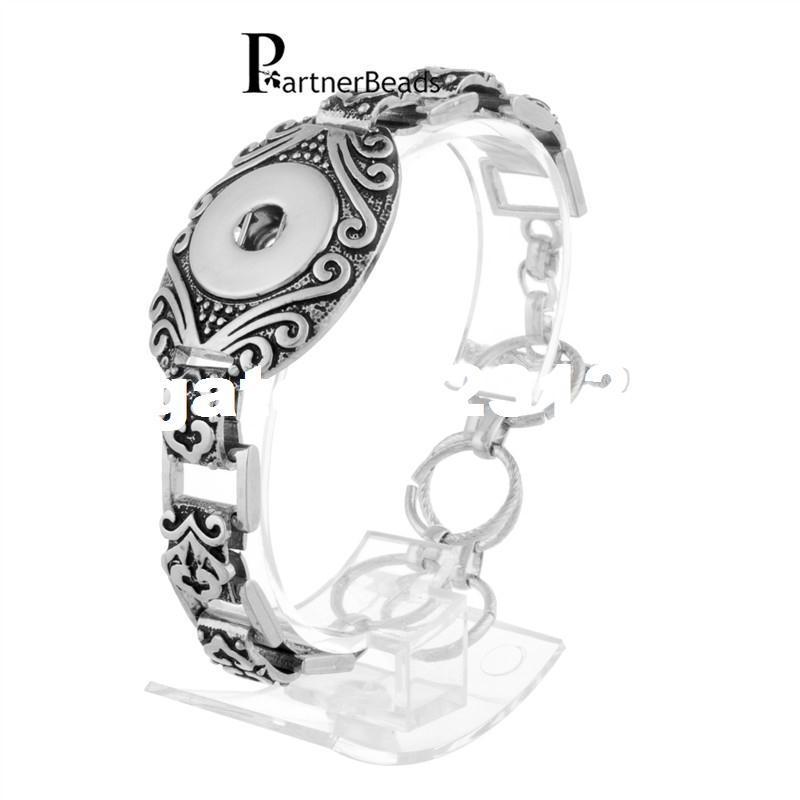 Bracelets 18mm Ginger Snap Bracelet En Métal Snap Bouton Charmes Bijoux Bracelet Pour Les Femmes Livraison Gratuite KB0182