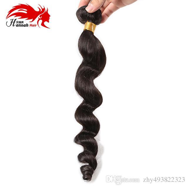 Onda sciolta brasiliana Capelli vergini 3 Bundles Estensioni non trattate dei capelli di Remy Bellezza Grace Wave sciolto brasiliano