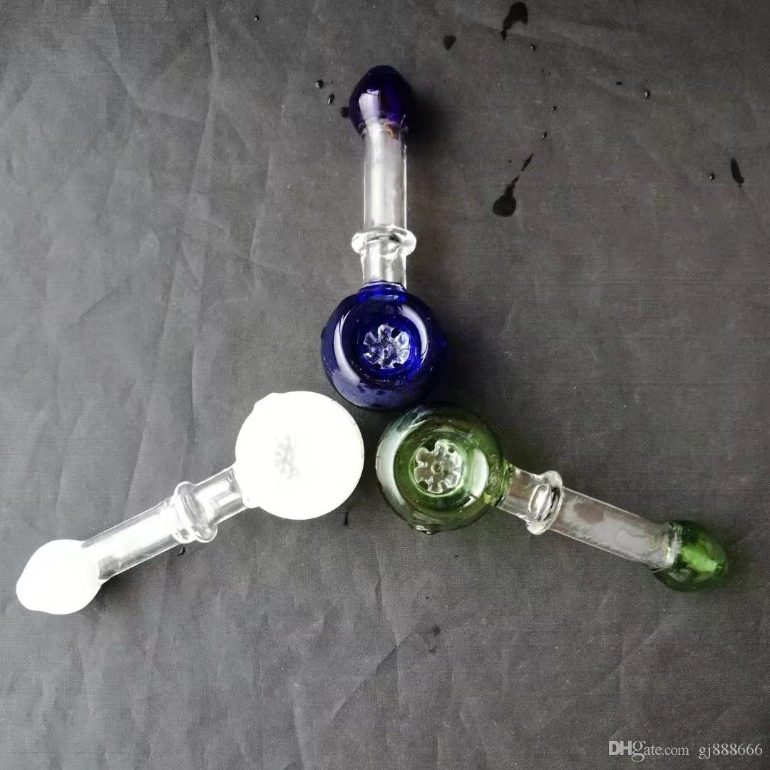 Renk kar taneleri parçaları tütün cam bongs aksesuarları, Renkli Boru Sigara Kavisli Cam Borular Yağı Brülör Boruları Su Boruları Dab Rig G