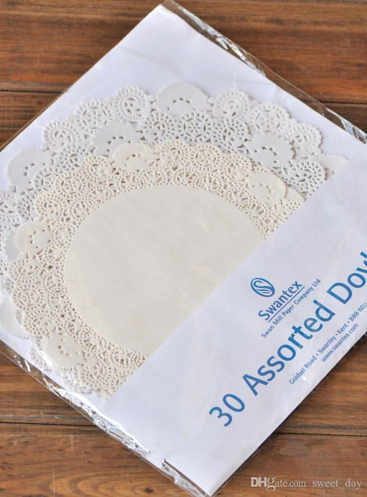 Free shipping high quality paper doyleys cake doyley oil absorbing sheet paper doily bakery package decoration supplies favors