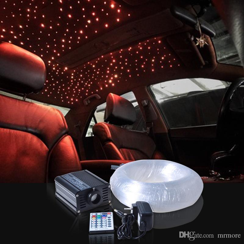 New Novelty Light LED Fiber Optic Star Ceiling Kit Mixed With 16w Rgbw Led Fiber Optic Light Engine 28 Keys Remote Controller