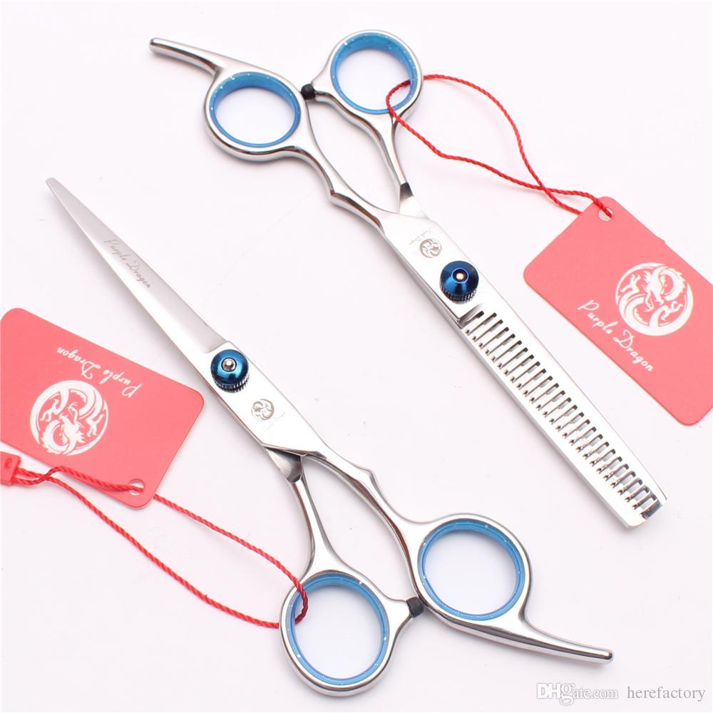 """Z1001 6 """"JP 440C Fioletowy Dragon Blue Professional Human Hair Nożyczki Fryzjerskie Nożyczki Fryzjerskie Nożyce do cięcia lub przerzedzania Shears Style"""