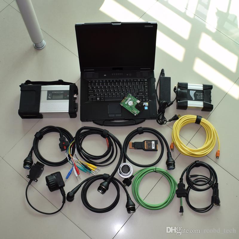 outil de diagnostic mb étoiles c5 pour BMW Icom suivant + CF52 portable avec 1TB 2in1 hdd prêt pour le travail