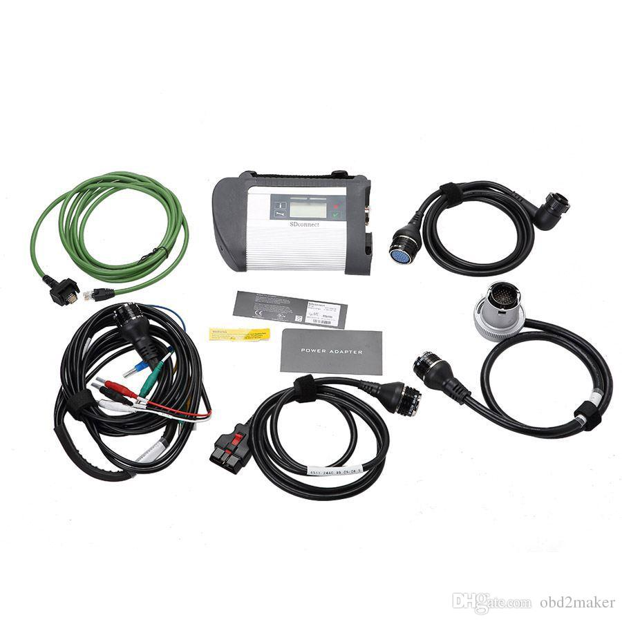 High Quality MB Star C4 SD Connect Star Diagnosis Xentry DAS System Compact 4 Multiplexer For Mercedes Benz Diag Tool