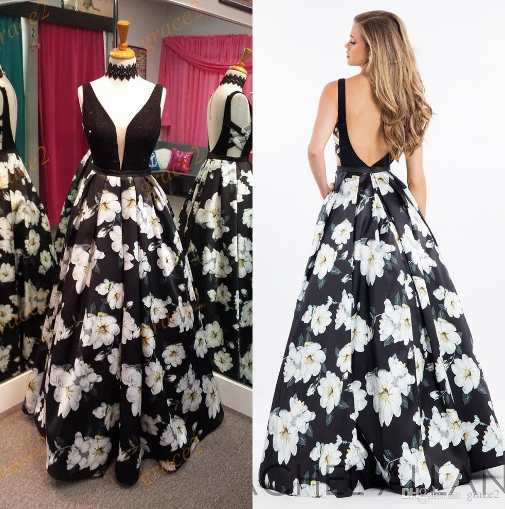 Print Floral Prom Dresses 2017 Famous