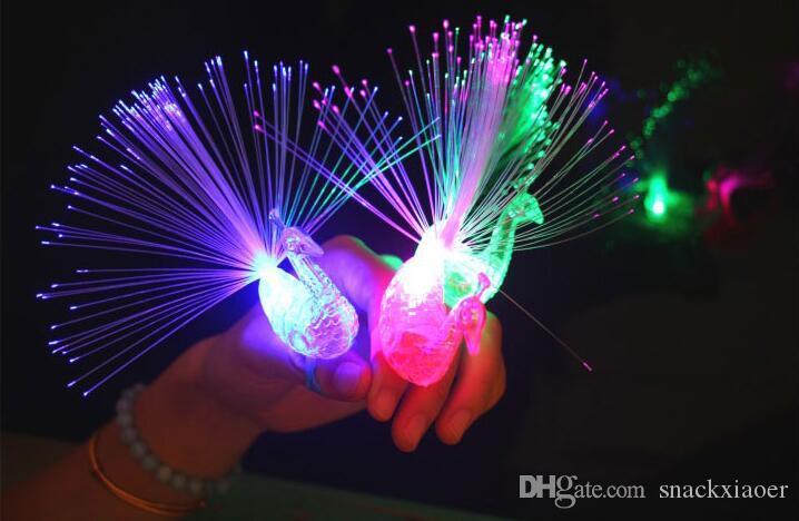 Gli indicatori luminosi di barretta della fibra ottica del lampone del LED del LED di TRASPORTO LIBERO Anelli per i ravi o il favore di partito