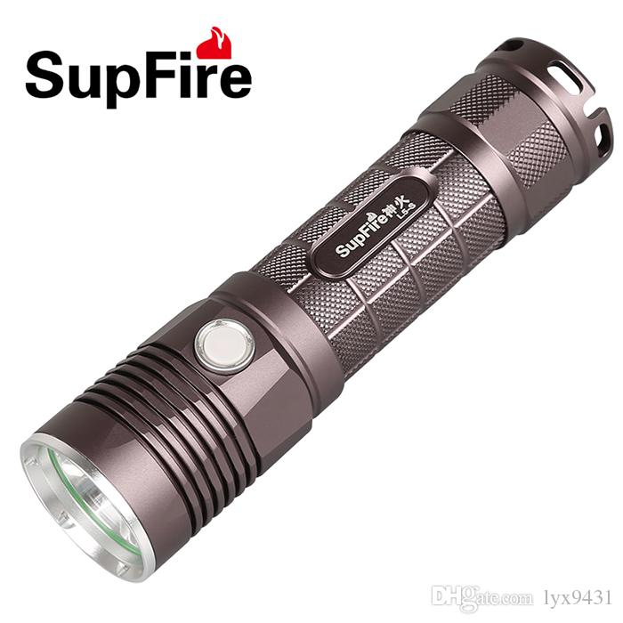 LED Flashlight High Quality Practical LED Lantern CREE L2 Lamp 5 Modes Middle Switch Rechargeable Battery Outdoor Sports Torch Super Bright