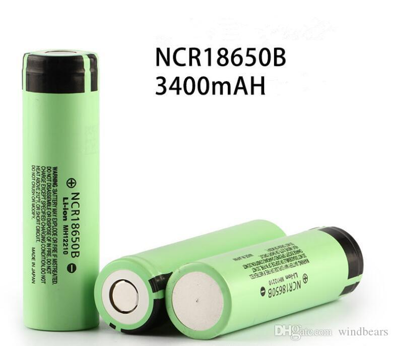 Japan 3400mah 100% Original NCR 18650B Rechargeable Battery for Fitting E mods flashlight