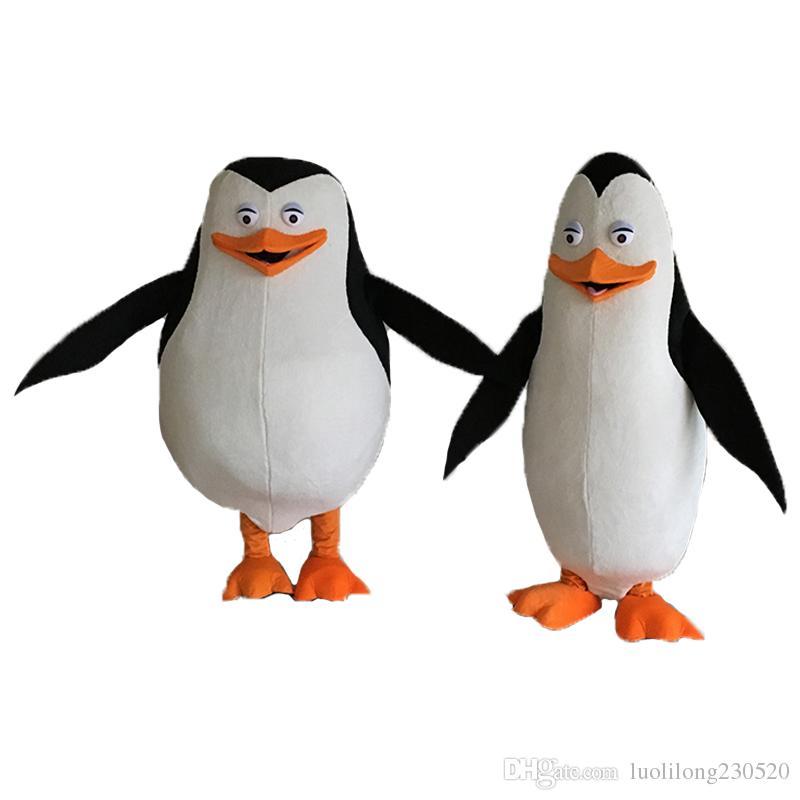 Mascotte madagascar pingouins costume de mascotte personnage de dessin animé mascotte déguisement carnaval
